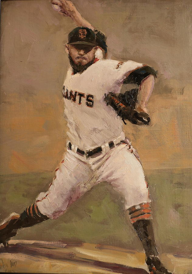 Sergio Romo Painting - Romo Nlcs Save by Darren Kerr