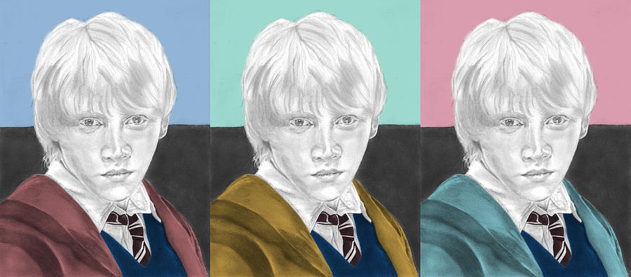 Ron Weasley Drawing - Ron Weasley - 3up One Print  by Alexander Gilbert
