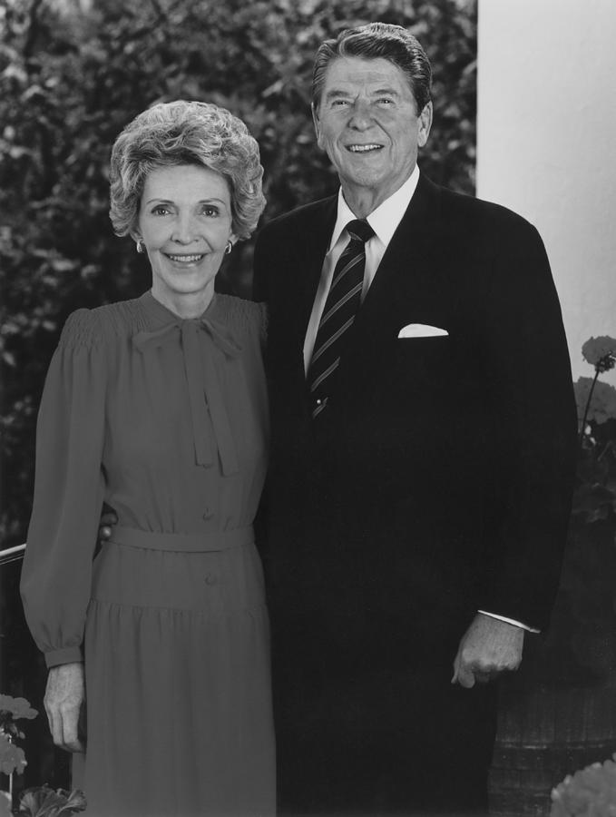 Ronald Reagan Photograph - Ronald And Nancy Reagan by War Is Hell Store