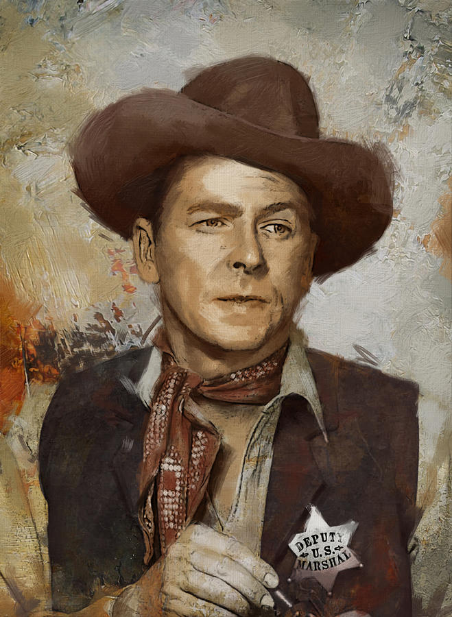Rancho Del Cielo Painting - Ronald Reagan Portrait 4 by Corporate Art Task Force