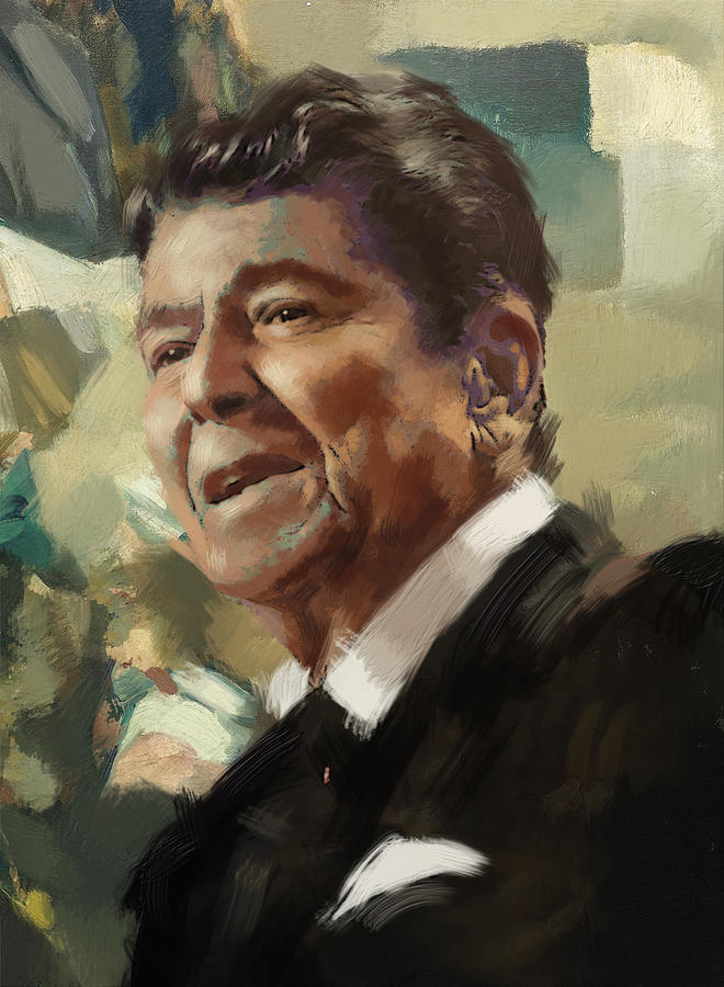Rancho Del Cielo Painting - Ronald Reagan Portrait 5 by Corporate Art Task Force