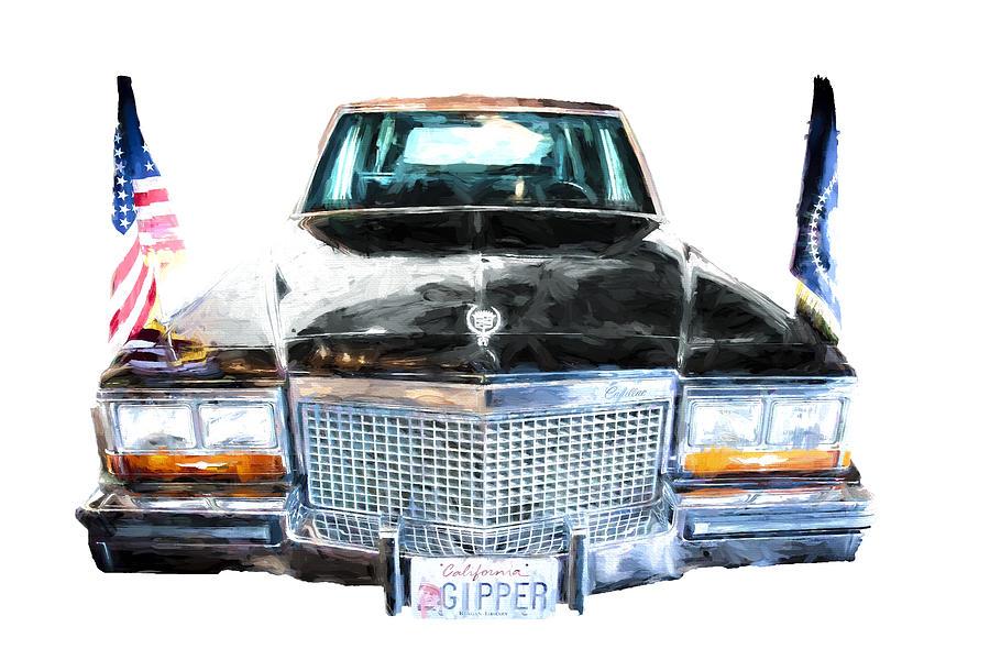 Ronald Reagan S Car Front Digital Art By Vivian Frerichs
