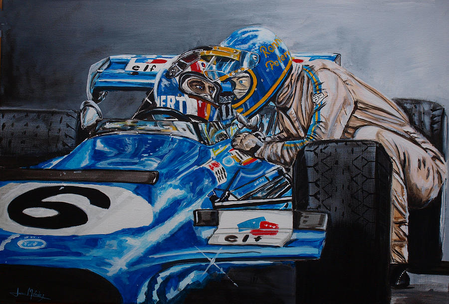 Francois Cevert Painting - Ronnie And Francois by Juan Mendez
