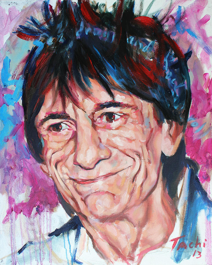 Ronnie Wood Painting - Ronnie by Tachi Pintor