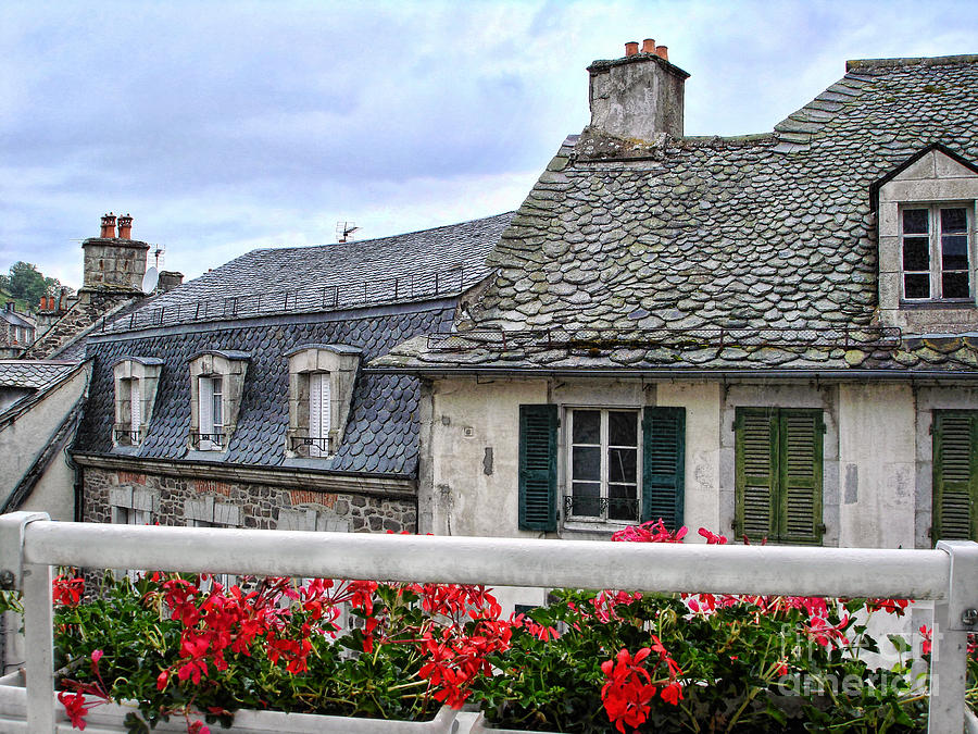Roof Photograph - Roofs In The Cantal Auvergne France by Menega Sabidussi