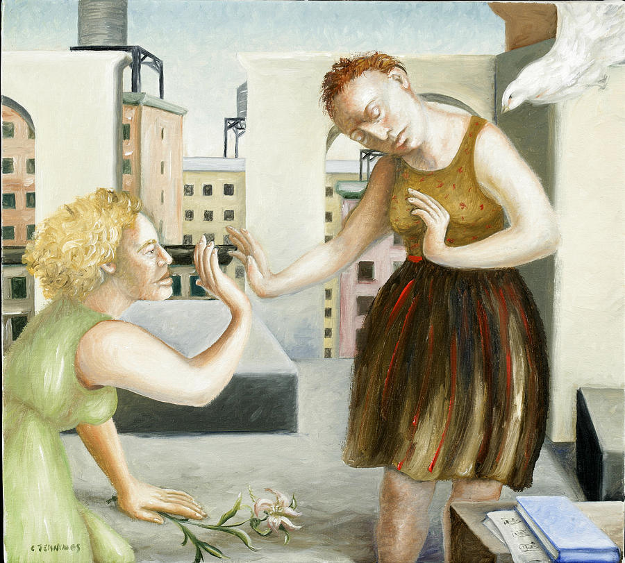 Tower Painting - Rooftop Annunciation One by Caroline Jennings