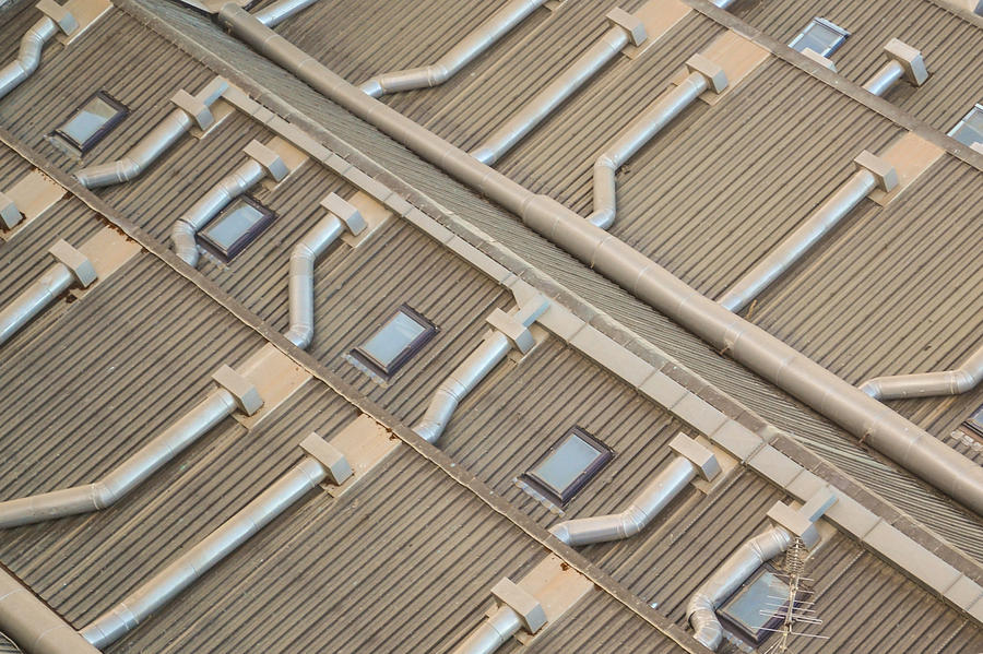 Roof Photograph - Rooftop Ducts by Bill Mock