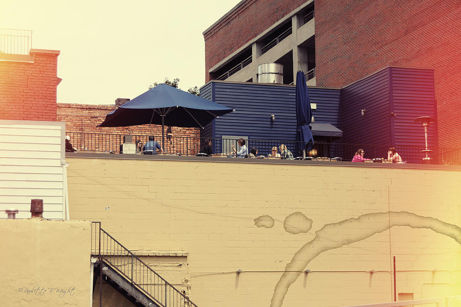Popular Photograph - Rooftop Lunch by Paulette B Wright