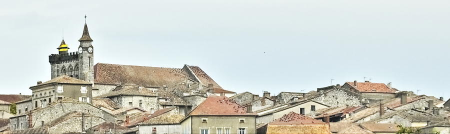 France Photograph - Rooftop Pano by Linda C Johnson
