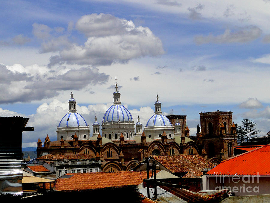 Church Photograph - Rooftops Of Cuenca by Al Bourassa