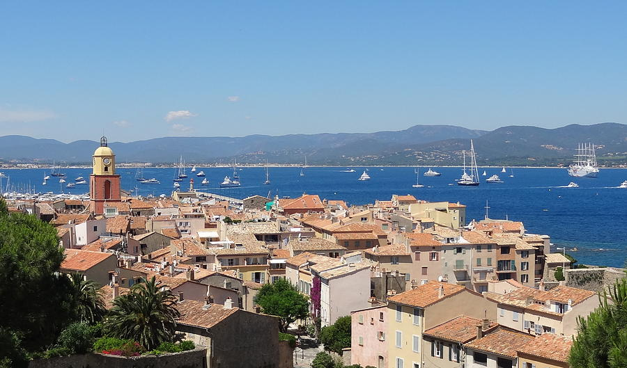 France Photograph - rooftops of St-Tropez by Solange Rhode