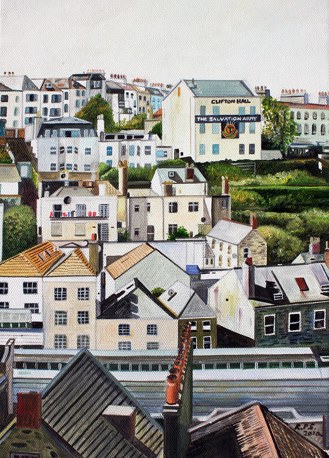 Rooftops Painting by Rob Sweeney