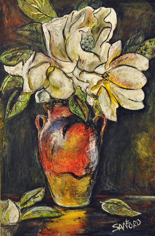 Vase Painting - Room To Bloom by Amanda  Sanford