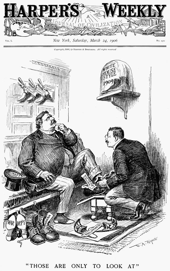 1906 Painting - Roosevelt-taft Cartoon by Granger