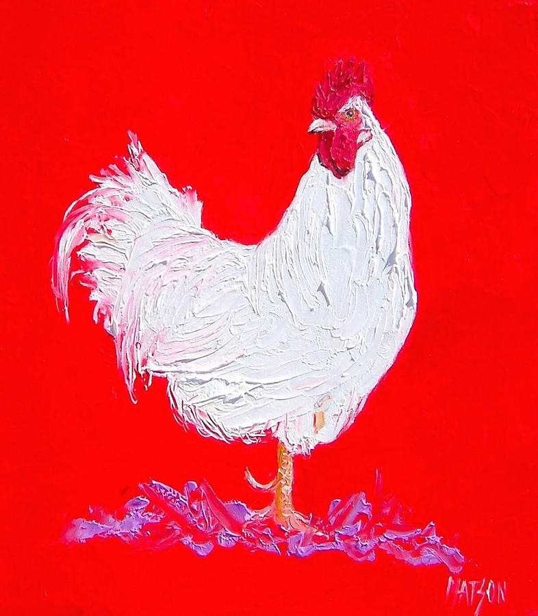 Rooster For The Cafe Painting