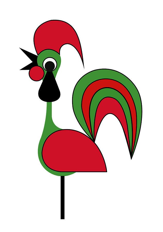 Rooster From Porto Digital Art by Asbjorn Lonvig