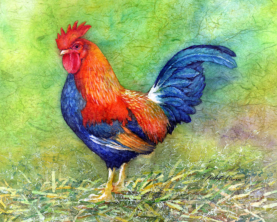 Rooster Painting - Rooster  by Hailey E Herrera
