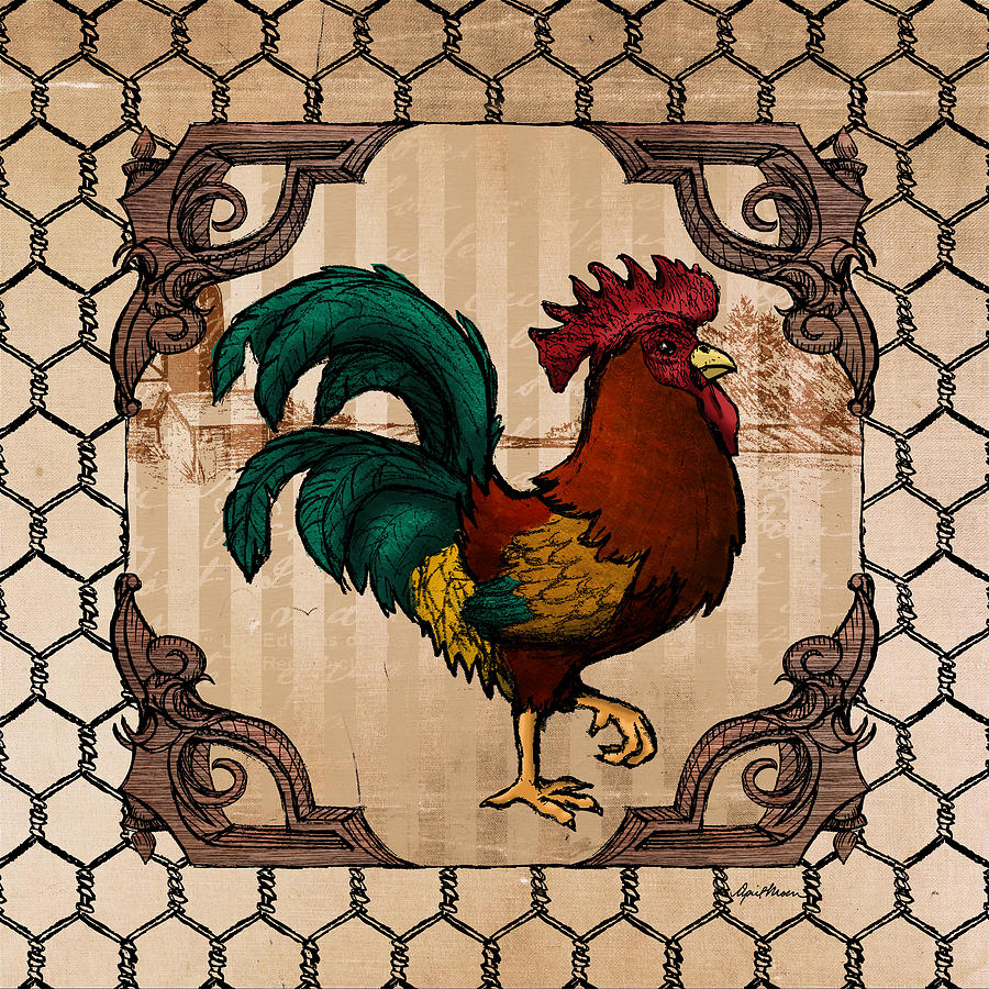 Rooster Digital Art - Rooster I by April Moen