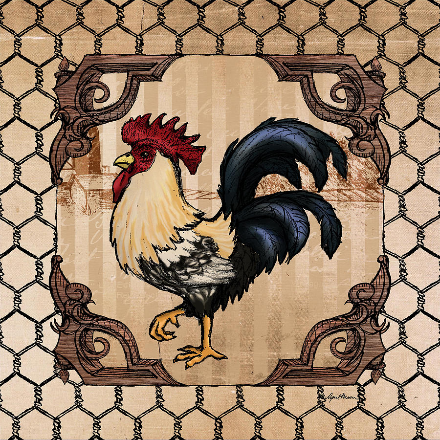 Rooster Digital Art - Rooster II by April Moen