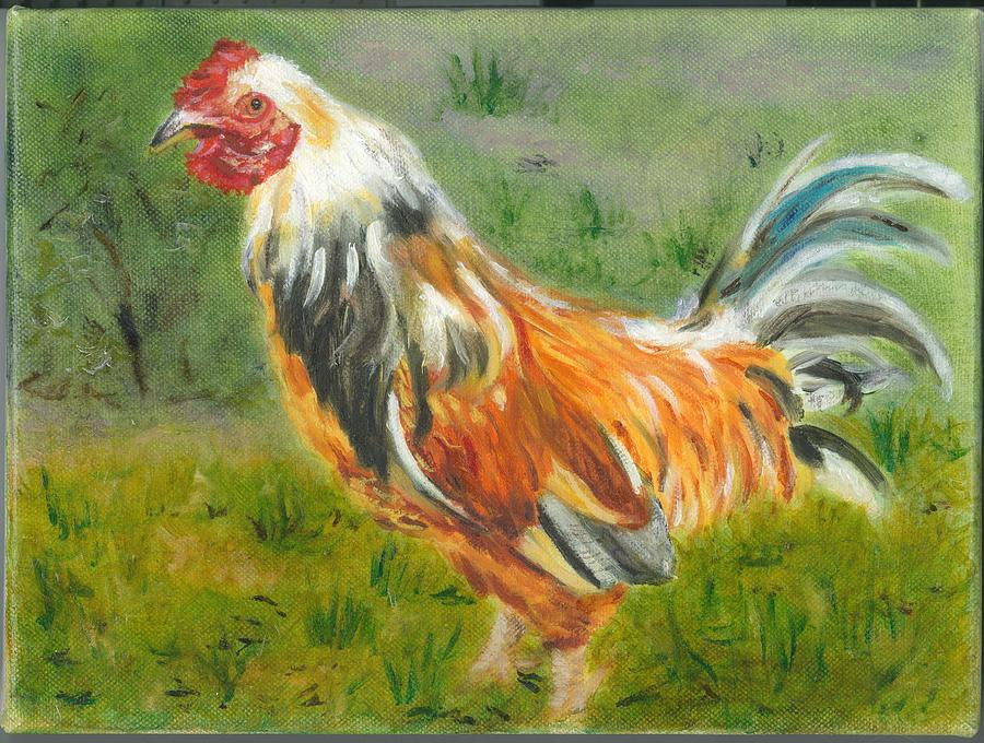 Rooster Painting - Rooster Rules by Paula Emery