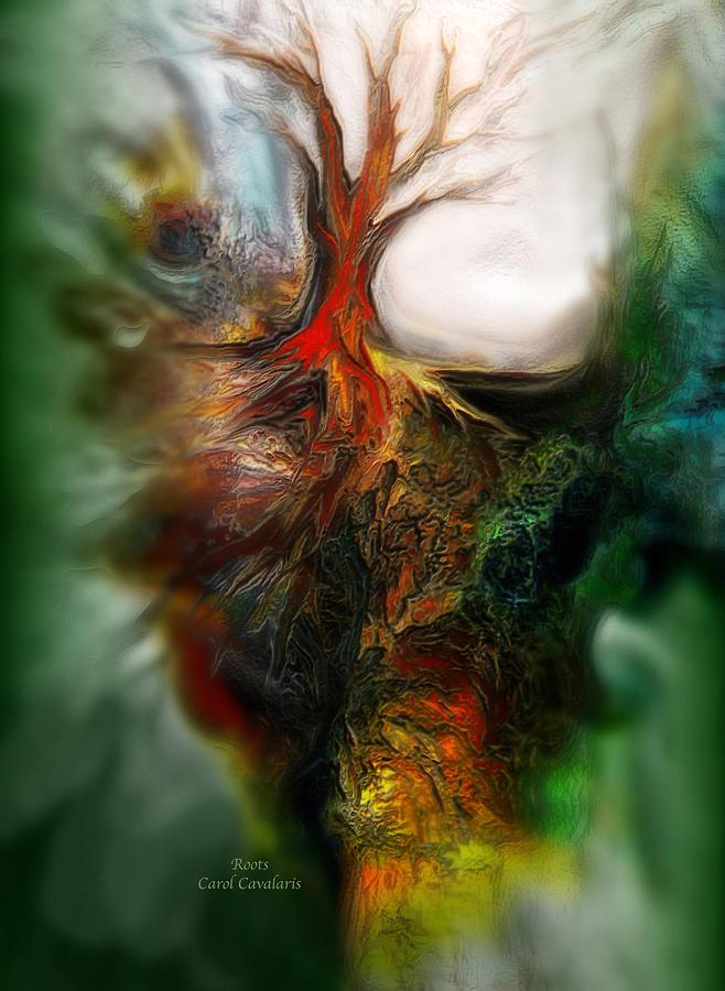 Abstract Mixed Media - Roots by Carol Cavalaris