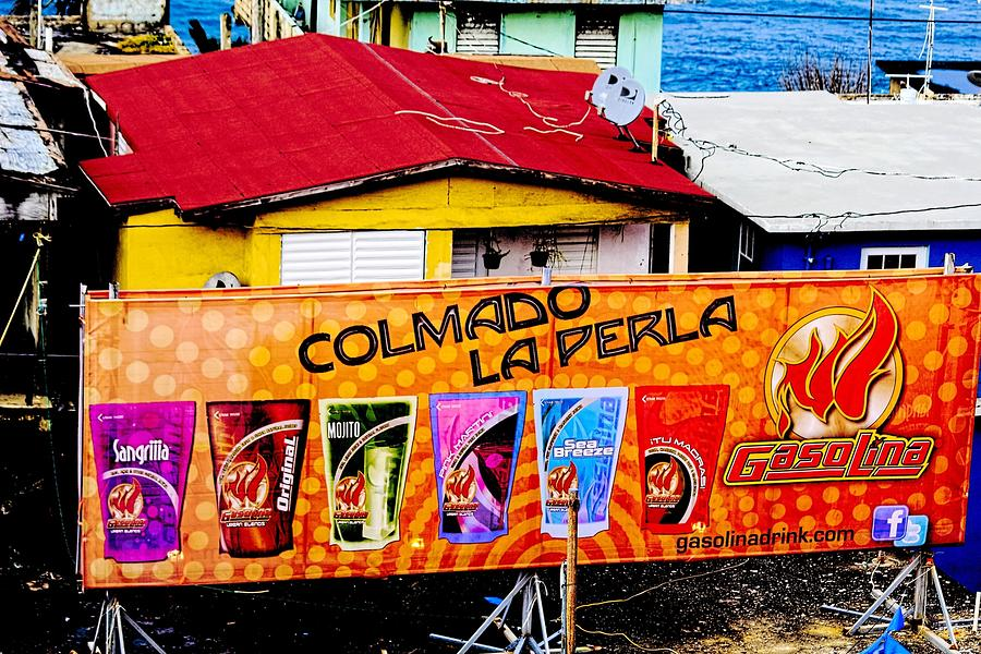 Digital Photograph - Roots Of La Perla At Old San Juan by Sandra Pena de Ortiz