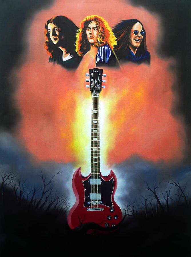 Black Sabbath Painting - Roots Of Metal by Hector Monroy