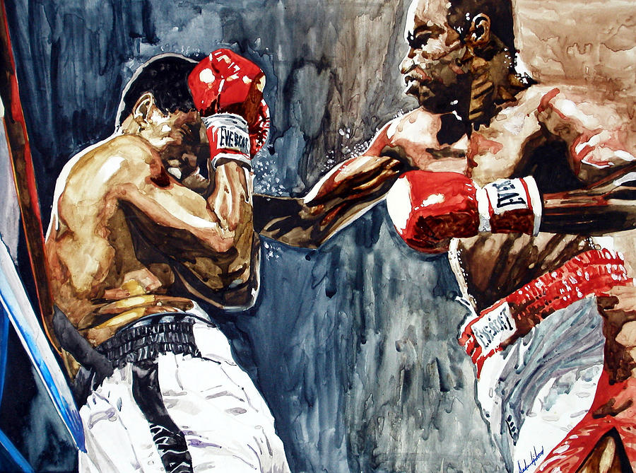 Sports Painting - Rope A Dope by Andre Ajibade
