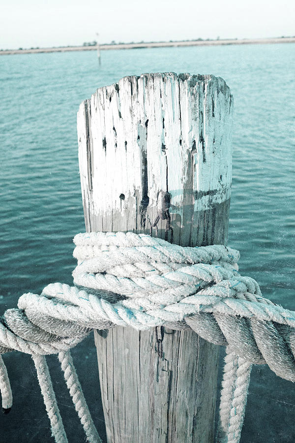 Rope Digital Art - Rope On Post I by Susan Bryant