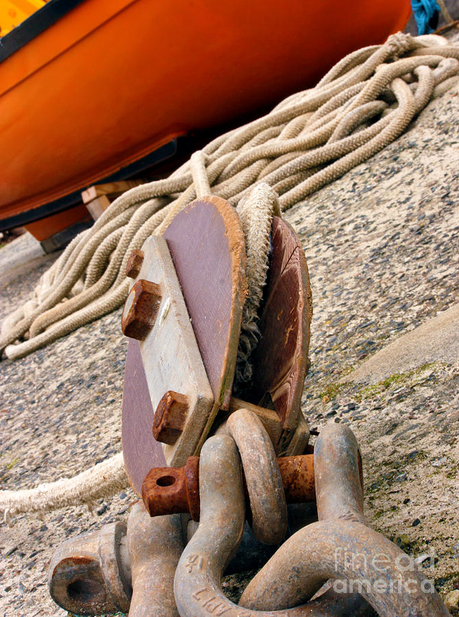 Rope Photograph - Ropes And Chains by Terri Waters