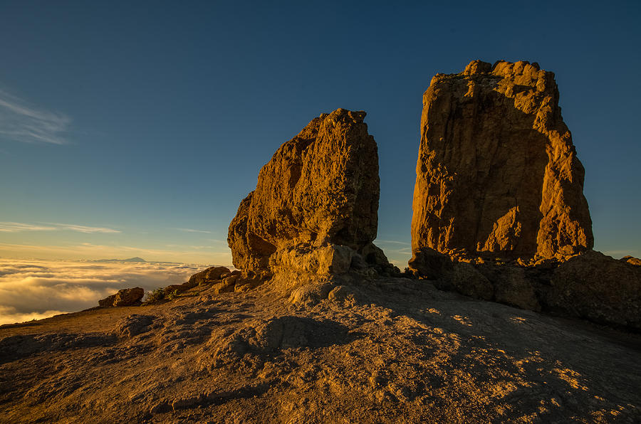 Gran Canaria Photograph - Roque Nublo Farther And Sun Monoliths At Sunset by Ben Spencer