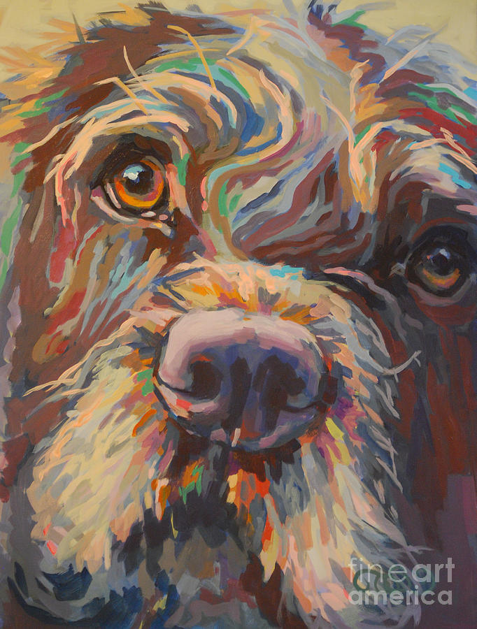 Labradoodle Painting - Rory by Kimberly Santini