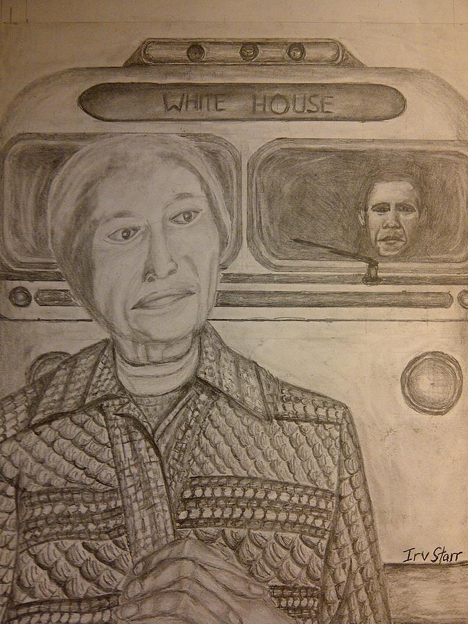Rosa Parks Drawing - Rosa Parks Imagined Progress by Irving Starr