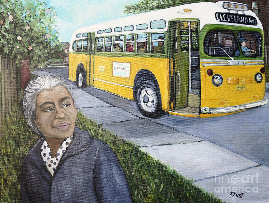 Black History Month Painting - Rosa Parks by Reb Frost