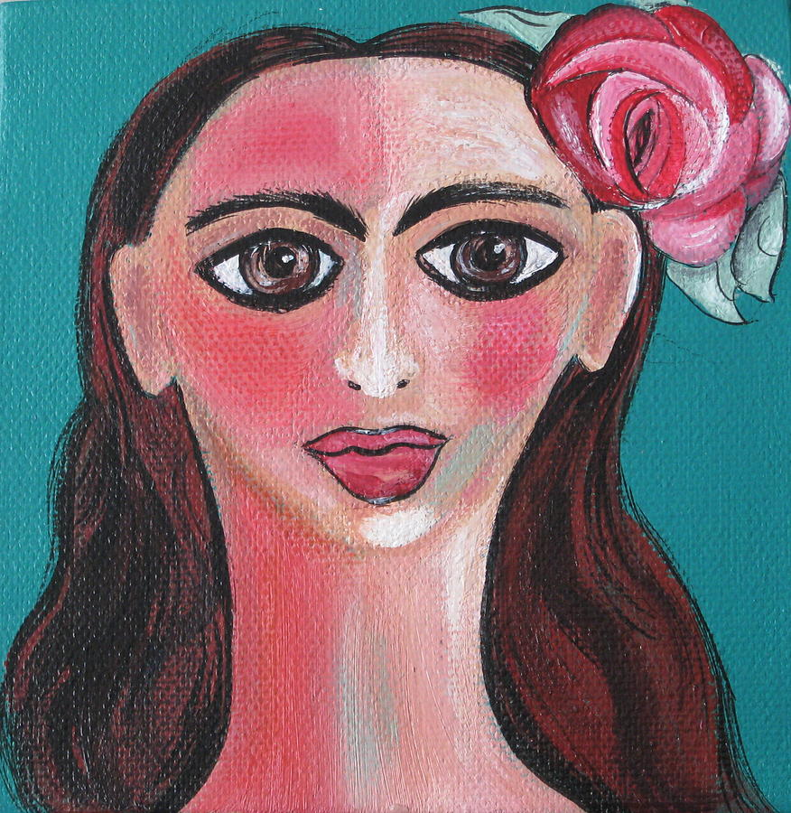 Woman Painting - Rosa by Sue Wright