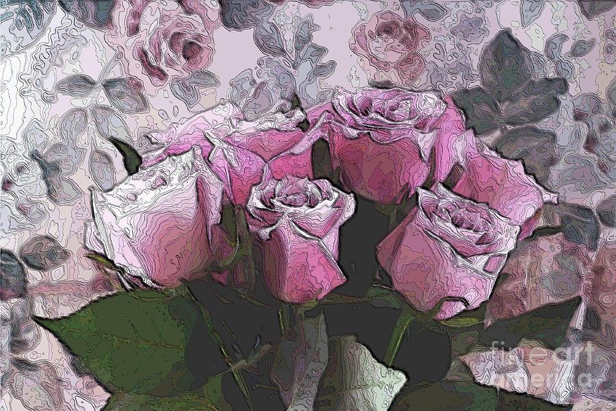 Roses Digital Art - Rosario  by Aimelle