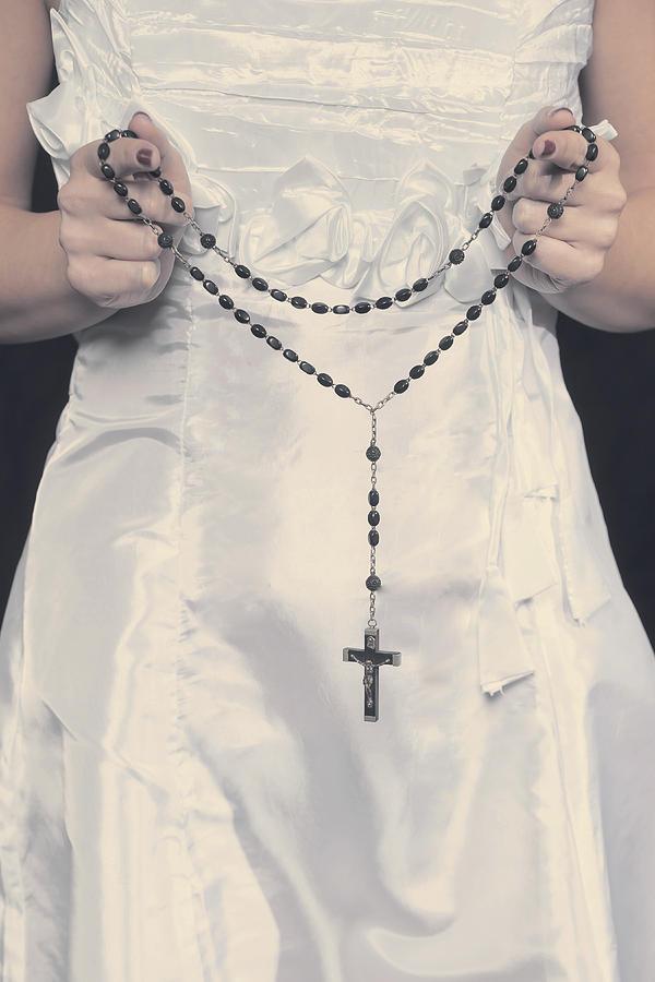 Hand Photograph - Rosary by Joana Kruse