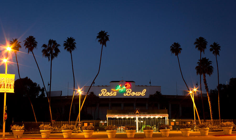 Rosebowl Photograph - Rose Bowl Sunset by Rollie Robles
