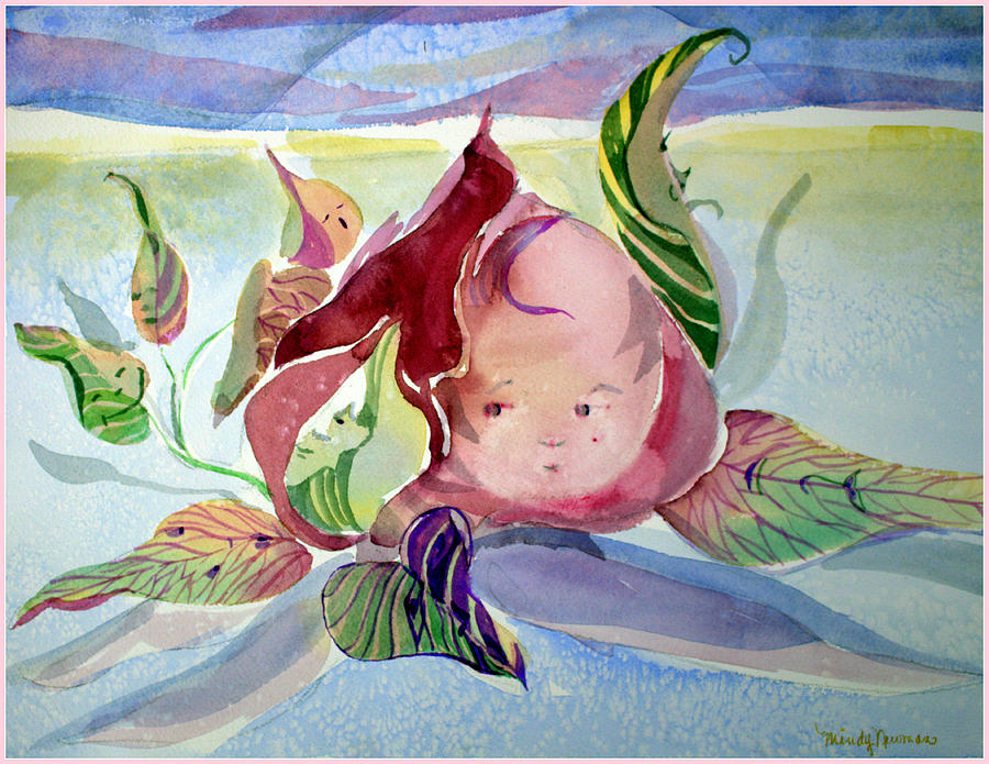 Flower Painting - Rose Bud by Mindy Newman
