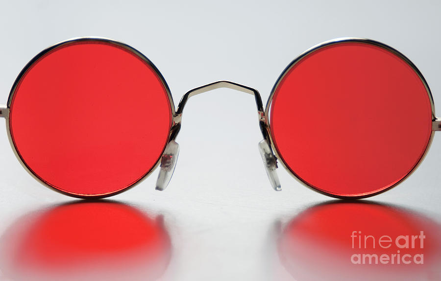 Red Photograph - Rose Colored Glasses by Dan Holm