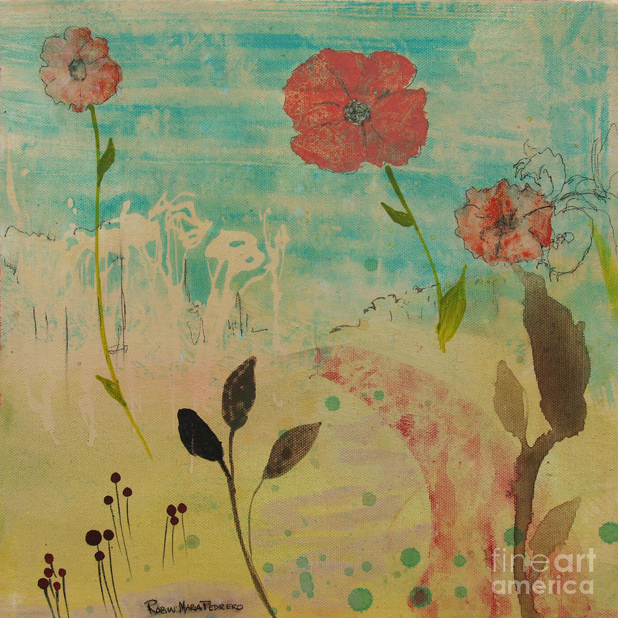 Rose Painting - Rose Colored Path by Robin Maria Pedrero