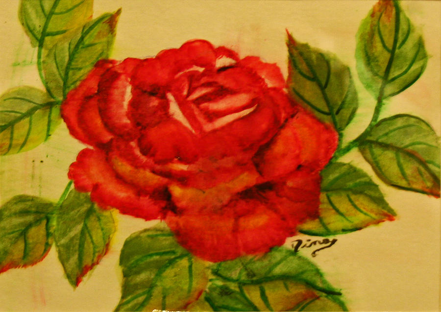 Painting Painting - Rose by Dina Jacobs