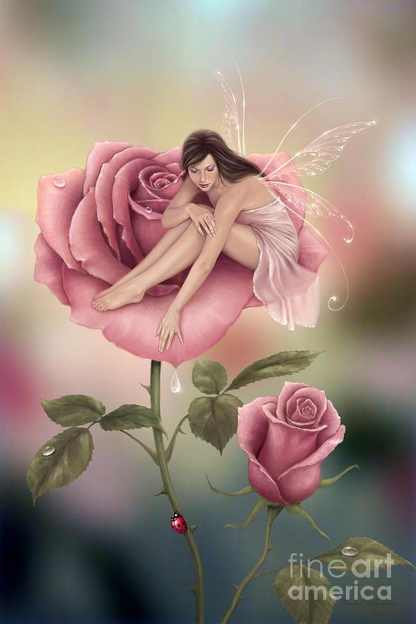 Rose flower fairy digital art by rachel anderson fairy digital art rose flower fairy by rachel anderson mightylinksfo