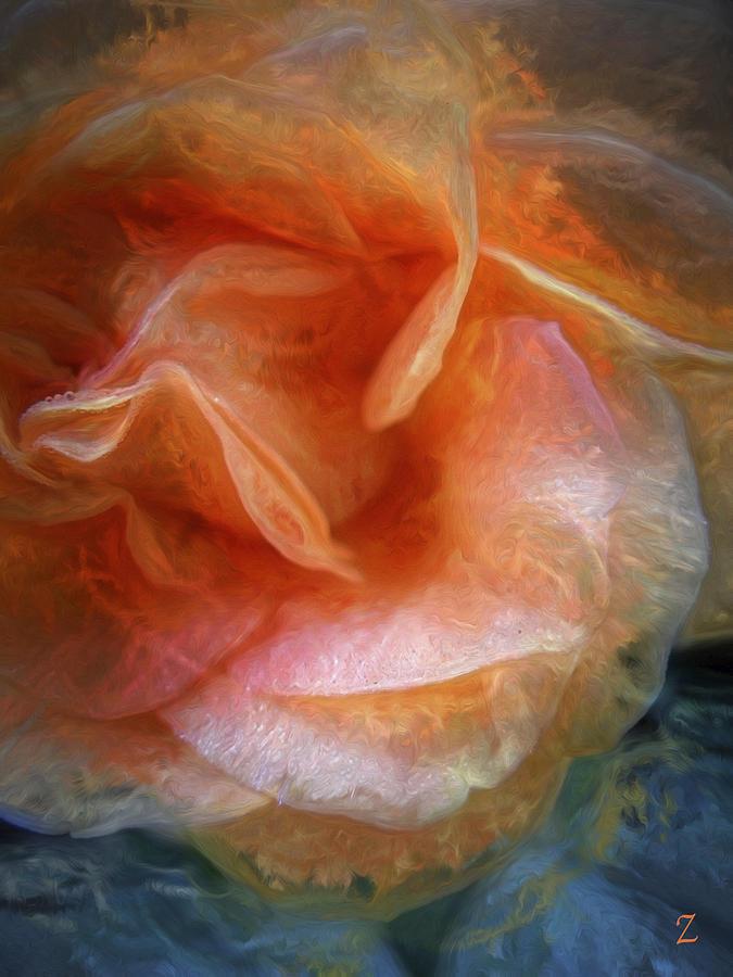 Rose Painting - Rose Glows by Joel Zimmerman