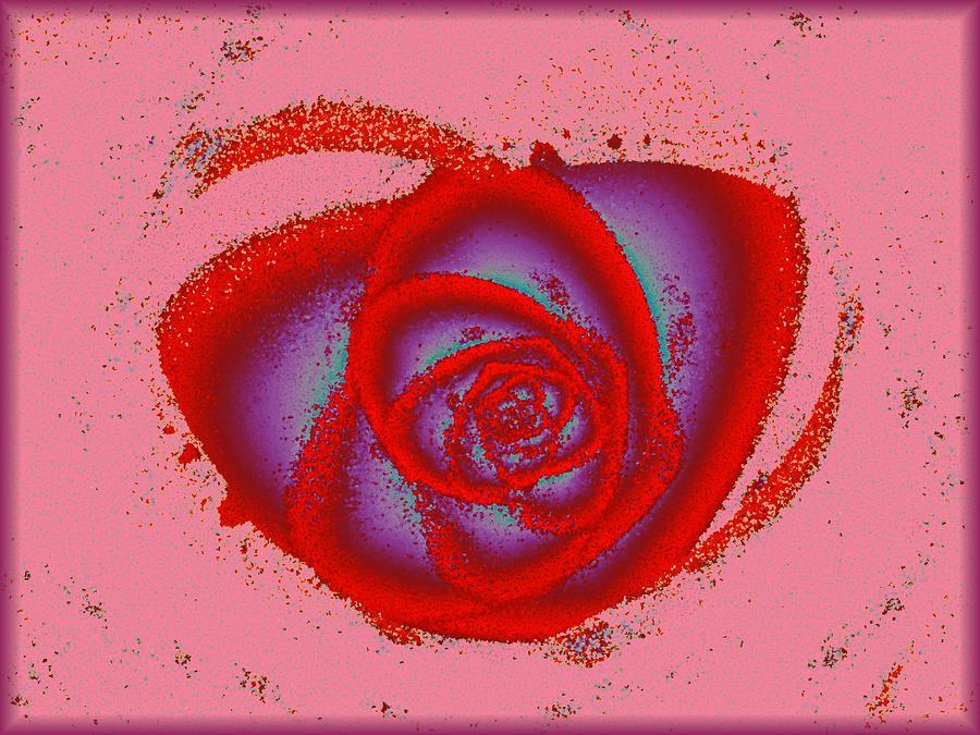 Malakhova Digital Art - Rose Heart by Anastasiya Malakhova