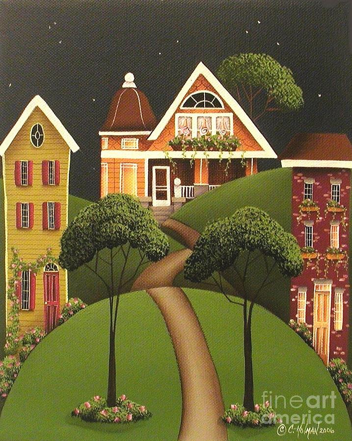 Art Painting - Rose Hill Lane by Catherine Holman