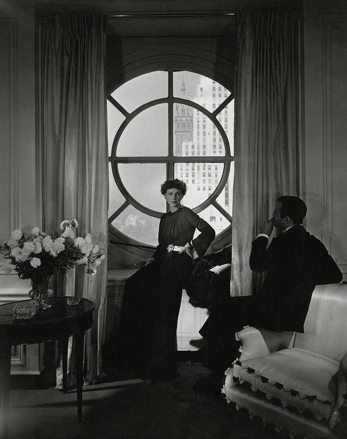 Accessories Photograph - Rose Hobart Standing By A Window by Edward Steichen