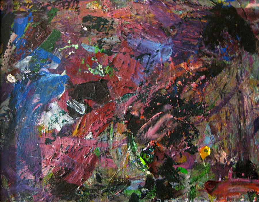 Abstract Expressionist Painting - Rose is Funk by Whitney Wiedner