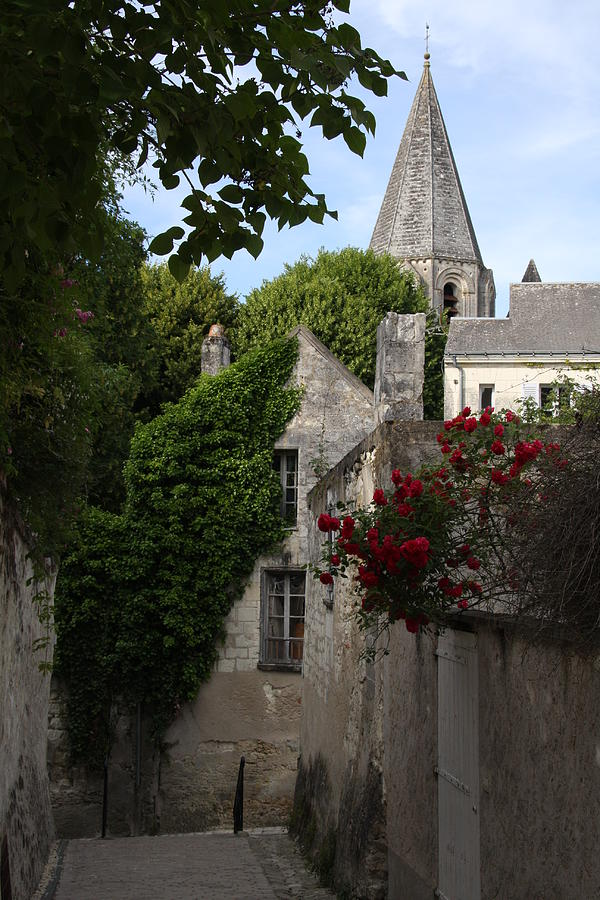 Narrow Street Photograph - Rose Lane In Loches by Christiane Schulze Art And Photography