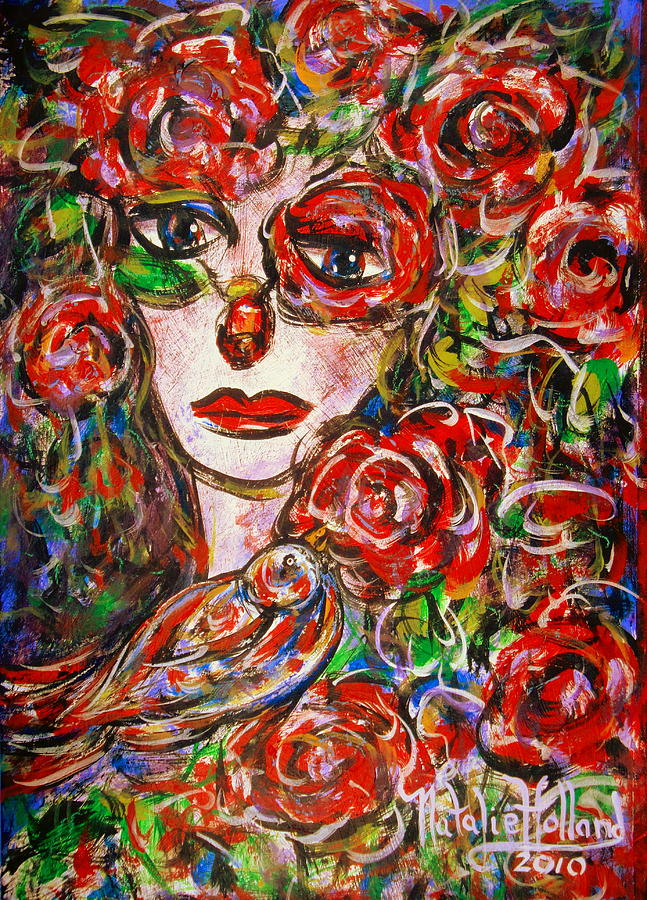 Expressionism Painting - Rose by Natalie Holland